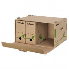 Контейнер архивный картонный Esselte Eco, коричневый
