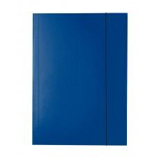 """Папка картонная А4 на резинках Esselte, фактура """"глянец"""", темно-синяя"""
