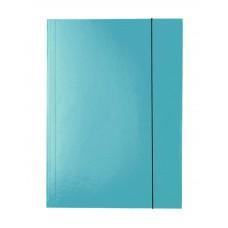 """Папка картонная А4 на резинках Esselte, фактура """"глянец"""", синяя"""