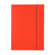 "Папка картонная А4 на резинках Esselte, фактура ""глянец"", красная"