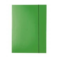 "Папка картонная А4 на резинках Esselte, фактура ""глянец"", зеленая"