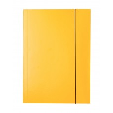 "Папка картонная А4 на резинках Esselte, фактура ""глянец"", желтая"