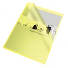 """Папка-уголок А4 Esselte Standard, фактура """"апельсин"""", 25 шт., желтая"""