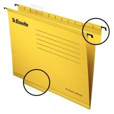 Файл подвесной А4 Esselte Classic, картонный, 25 шт., желтый