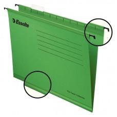 Файл подвесной А4 Esselte Classic, картонный, 25 шт., зеленый