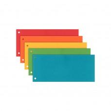 Разделитель листов 240x105 мм Esselte, картон, 100 шт., цветной