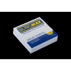 Бумага для заметок 80х80 мм. Buromax Jobmax, 250 л., проклеенная, белая