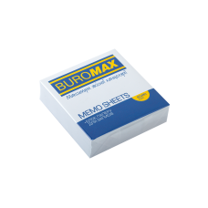 Бумага для заметок 80х80 мм. Buromax Jobmax, 250 л., непроклеенная, белая