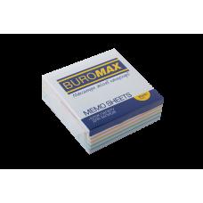 Бумага для заметок 80х80 мм. Buromax Радуга, 330 л., проклеенная, цветная