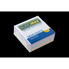 Бумага для заметок 80х80 мм. Buromax Радуга, 330 л., непроклеенная, цветная