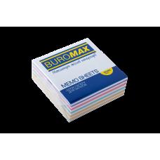Бумага для заметок 80х80 мм. Buromax Зебра, 330 л., проклеенная, цветная