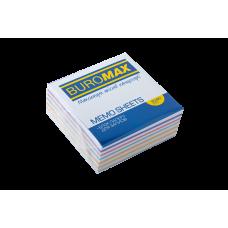 Бумага для заметок 80х80 мм. Buromax Зебра, 330 л., непроклеенная, цветная