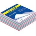 Бумага для заметок 90х90 мм. Buromax Зебра, 440 л., проклеенная, цветная