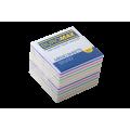 Бумага для заметок 90х90 мм. Buromax Зебра, 770 л., непроклеенная, цветная