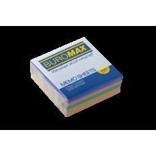 Бумага для заметок 80х80 мм. Buromax Декор, 330 л., проклеенная, цветная