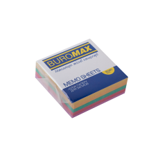 Бумага для заметок 80х80 мм. Buromax Декор, 330 л., непроклеенная, цветная