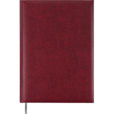 Ежедневник недатированный Buromax Base, А4, 288л, бумвинил, бордовый