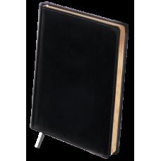 Ежедневник недатированный Buromax Boss, А4, 288л, натуральная кожа, черный