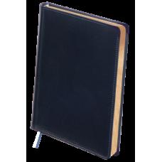 Ежедневник недатированный Buromax Boss, А4, 288л, натуральная кожа, синий