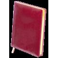Ежедневник недатированный Buromax Boss, А4, 288л, натуральная кожа, красный