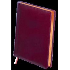 Ежедневник недатированный Buromax Boss, А4, 288л, натуральная кожа, бордовый