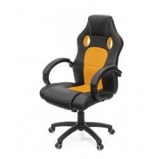 Кресло Анхель АКЛАС PL TILT, черно-оранжевый