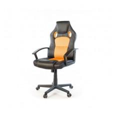 Кресло Анхель NEW АКЛАС PL TILT, черно-оранжевый