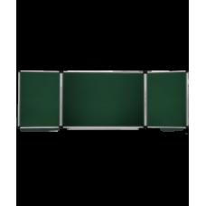 Доска комби (для мела/маркера) ABC office (300x100), в алюминиевой рамке X-line, трехсекционная