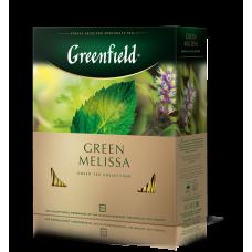 Чай зеленый Greenfield Green Melissa 1,5г, 100шт, пакетированный