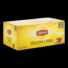 Чай черный Lipton Yellow Label 2г, 50шт, пакетированный