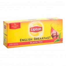 Чай черный Lipton English Breakfast 2г, 25шт, пакетированный