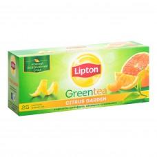 Чай зелёный Lipton Citrus Garden Green 2г, 25шт, пакетированный