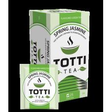 Чай зелёный Totti Tea Весенний жасмин 2г, 25шт, пакетированный
