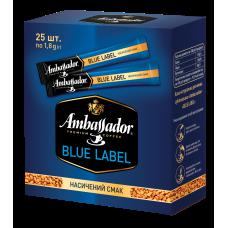 Кофе растворимый Ambassador Blue Label в стике, 25х1,8г, шоубокс