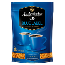 Кофе растворимый Ambassador Blue Label, 60г
