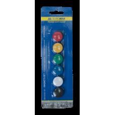 Комплект магнитов Buromax, 20 мм, 6 шт. в упаковке