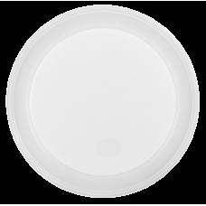 Тарелки одноразовые Buroclean, диаметр 20,5 см. белые, 100 шт.