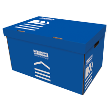 "Контейнер архивный картонный Buromax ""Jobmax"", синий"