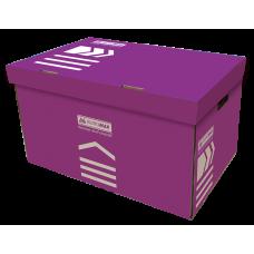 """Контейнер архивный картонный Buromax """"Jobmax"""", фиолетовый"""