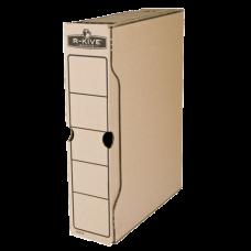 """Короб архивный картонный Fellowes """"R-Kive Basics"""", 80 мм, крафт"""