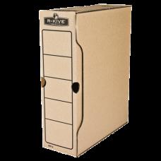 """Короб архивный картонный Fellowes """"R-Kive Basics"""", 100 мм, крафт"""