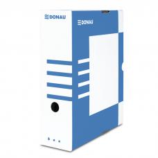 Короб архивный картонный Donau, 100 мм, синий
