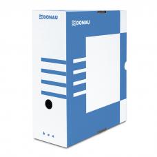 Короб архивный картонный Donau, 120 мм, синий