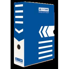 """Короб архивный картонный Buromax """"Jobmax"""", 80 мм, синий"""