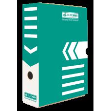 """Короб архивный картонный Buromax """"Jobmax"""", 80 мм, бирюзовый"""