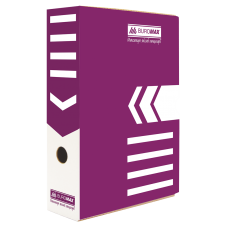 """Короб архивный картонный Buromax """"Jobmax"""", 80 мм, фиолетовый"""