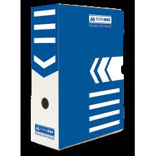 """Короб архивный картонный Buromax """"Jobmax"""", 100 мм, синий"""