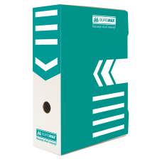 """Короб архивный картонный Buromax """"Jobmax"""", 100 мм, бирюзовый"""