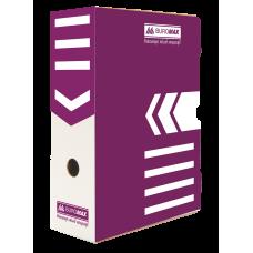 """Короб архивный картонный Buromax """"Jobmax"""", 100 мм, фиолетовый"""