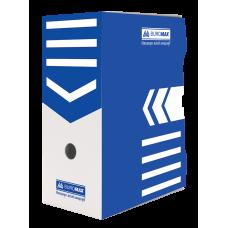 """Короб архивный картонный Buromax """"Jobmax"""", 150 мм, синий"""